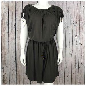 Michael Kors Large Brown Drawstring Dress